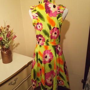 Andrew Marc Dresses - Andrew Marc Silk Sleeveless Ruffled Midi Dress